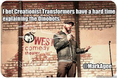 i bet creationist transformers have a hard time explaining t - Dinobots