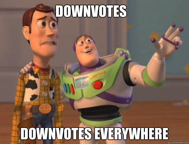 downvotes downvotes everywhere - buzz