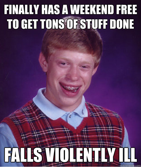 finally has a weekend free to get tons of stuff done falls v - Bad Luck Brian