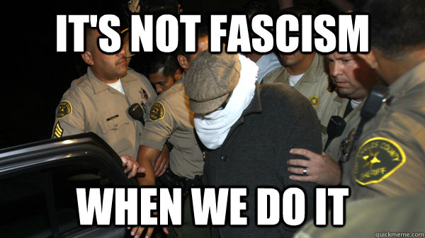 its not fascism when we do it - Defend the Constitution