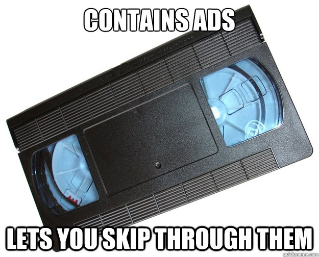 contains ads lets you skip through them -