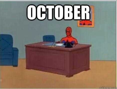 october  - Spiderman Desk