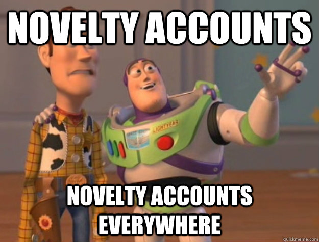 novelty accounts novelty accounts everywhere - Buzz Lightyear