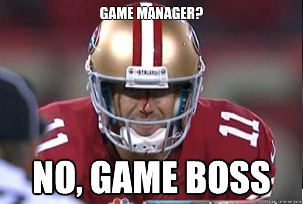 game manager no game boss -