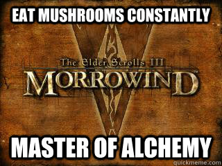 eat mushrooms constantly master of alchemy - Alchemy