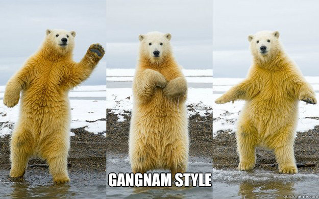 gangnam style - Dancing Polar Bear