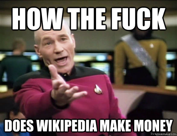 how the fuck does wikipedia make money - Annoyed Picard HD