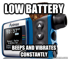 low battery beeps and vibrates constantly - 