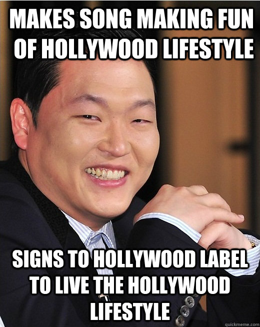 makes song making fun of hollywood lifestyle signs to hollyw - 