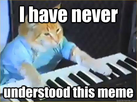i have never understood this meme - Keyboard Cat