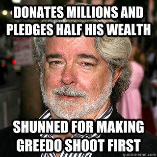 donates millions and pledges half his wealth shunned for mak - Bad Rap George