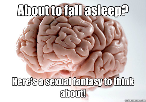 about to fall asleep heres a sexual fantasy to think about - Scumbag Brain