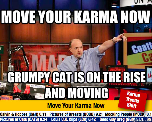 move your karma now grumpy cat is on the rise and moving - Mad Karma with Jim Cramer