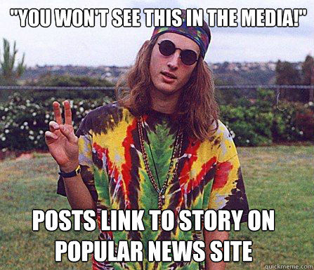 you wont see this in the media posts link to story on po - scumbag hippie