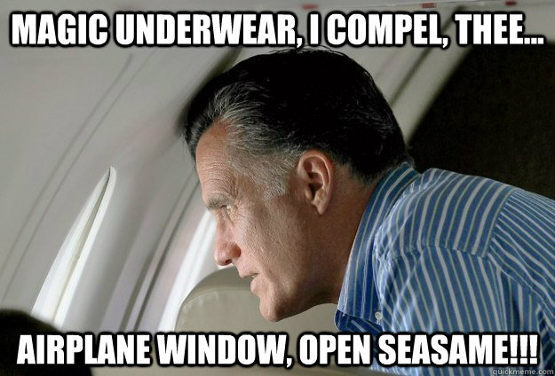 magic underwear i compel thee airplane window open sea - Romney Pressure