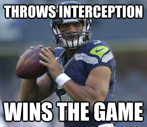 throws interception wins the game - 