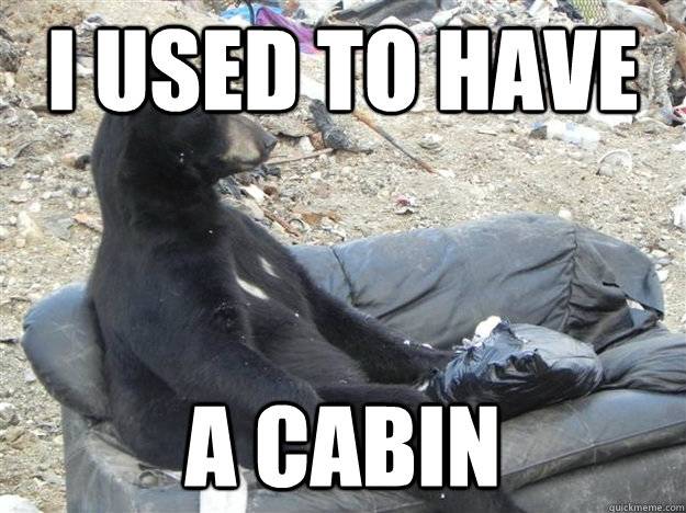 i used to have a cabin -