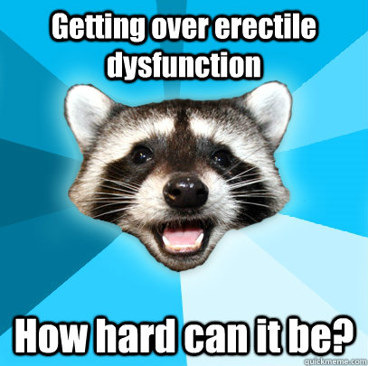 getting over erectile dysfunction how hard can it be  - Lame Pun Coon