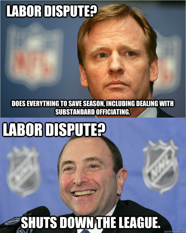 labor dispute does everything to save season including dea - Good Guy Goodell  Bad Guy Bettman