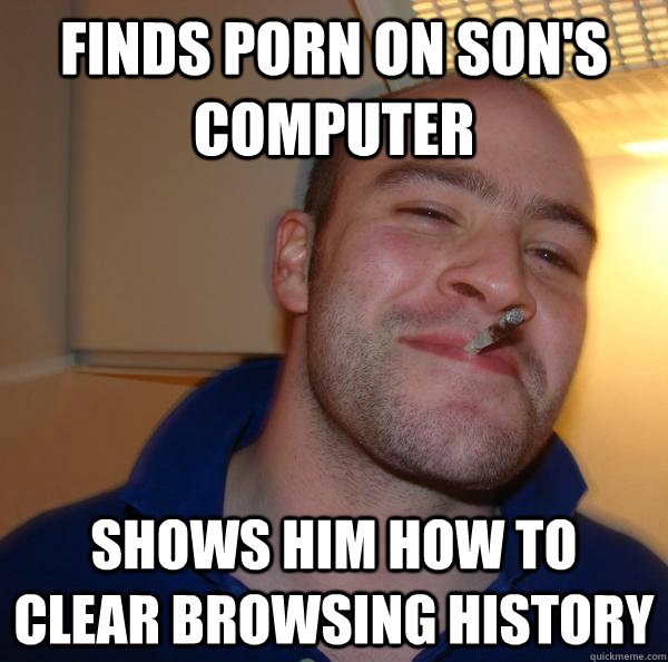 finds porn on sons computer shows him how to clear browsing - Good Guy Greg