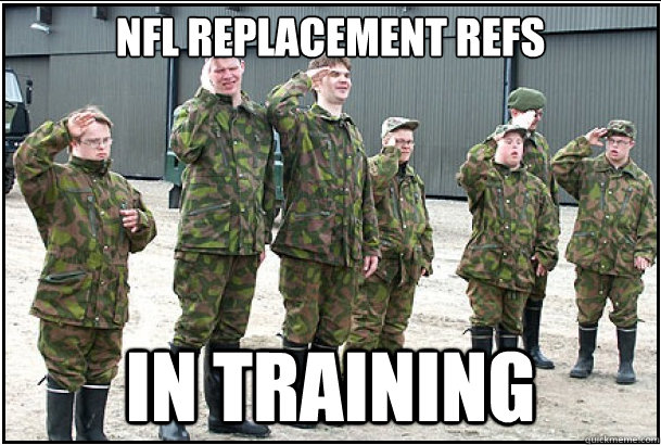 nfl replacement refs in training - 