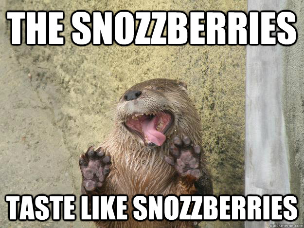 the snozzberries taste like snozzberries - 
