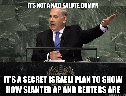 its not a nazi salute dummy its a secret israeli plan to  - APRUETERSFAIL