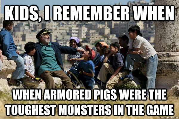 kids i remember when when armored pigs were the toughest mo - Old man from the 90s