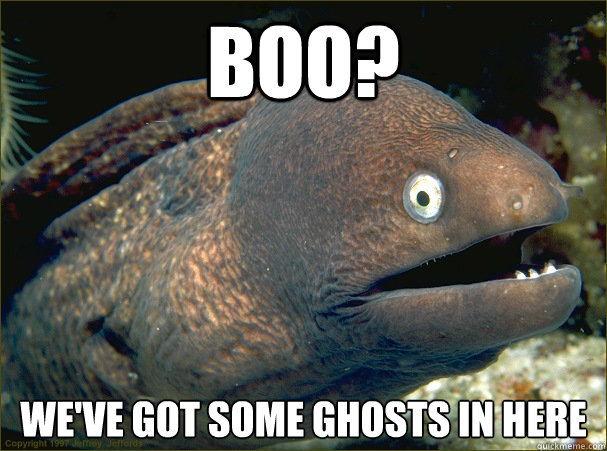boo weve got some ghosts in here - Bad Joke Eel