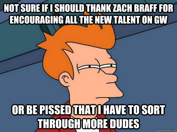 not sure if i should thank zach braff for encouraging all th - Futurama Fry