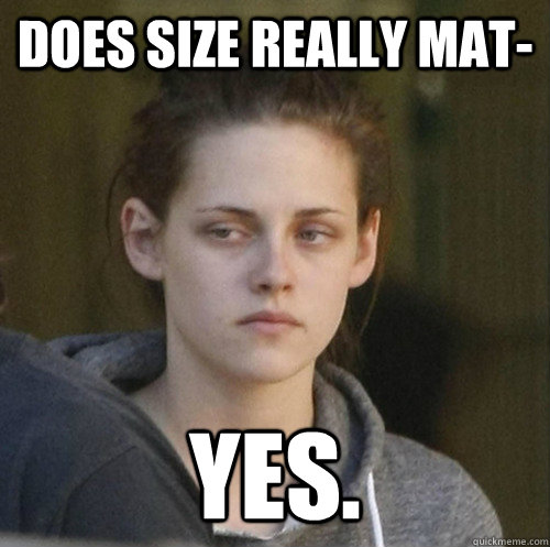 does size really mat yes - Underly Attached Girlfriend