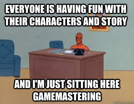 everyone is having fun with their characters and story and i - Masturbating Spiderman