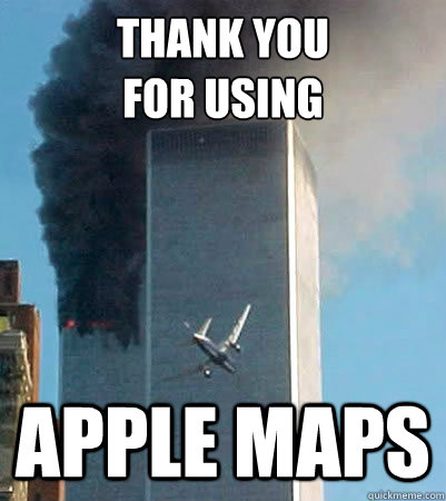 thank you for using apple maps -