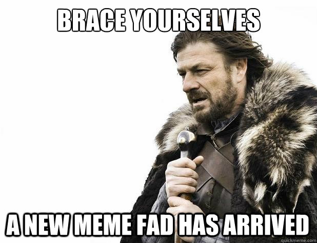 brace yourselves a new meme fad has arrived - Brace Yourself