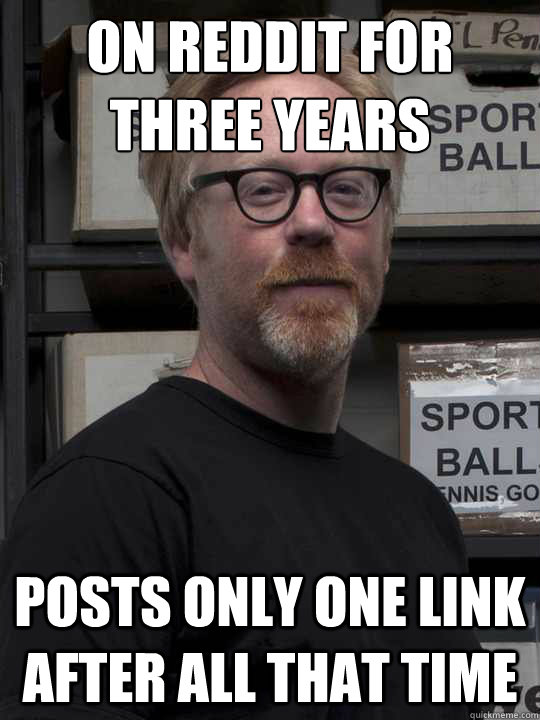 on reddit for three years posts only one link after all that -