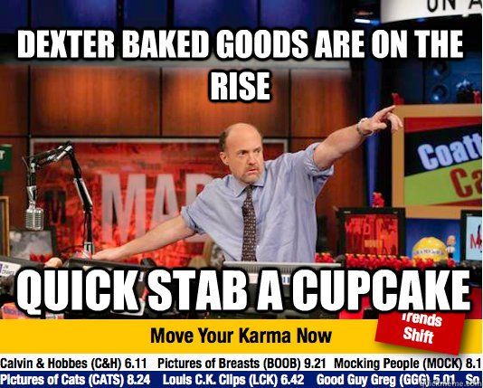 dexter baked goods are on the rise quick stab a cupcake - Mad Karma with Jim Cramer
