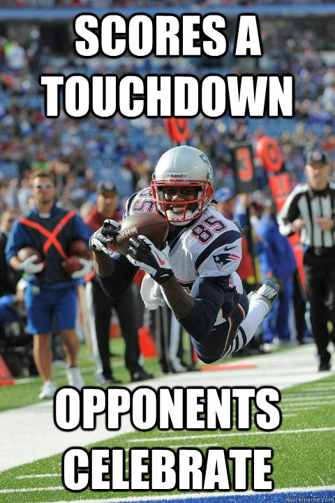 scores a touchdown opponents celebrate - Ridiculously Photogenic Receiver