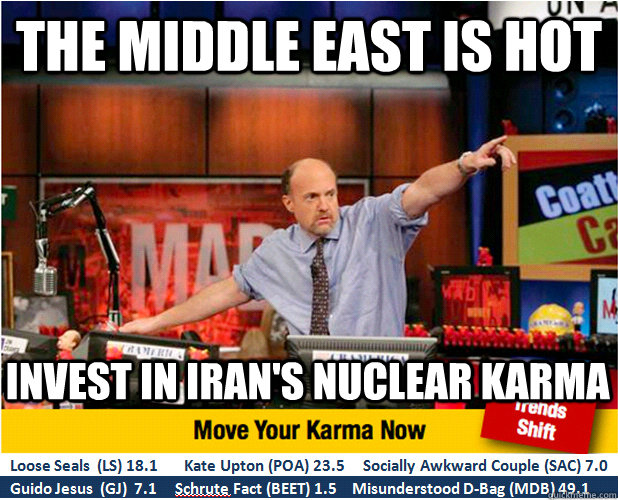 the middle east is hot invest in irans nuclear karma  - Jim Kramer with updated ticker
