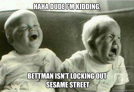 haha dude im kidding bettman isnt locking out sesame str - The NHL lockout Reaches our Children