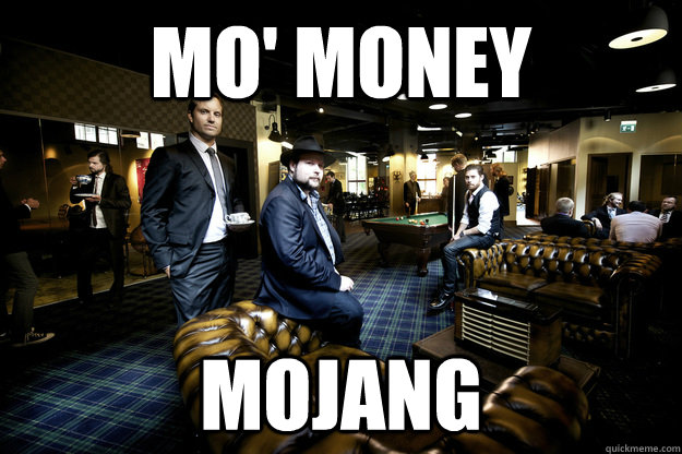 mo money mojang - Mojangs office