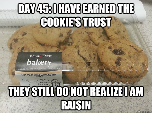 day 45 i have earned the cookies trust they still do not r -