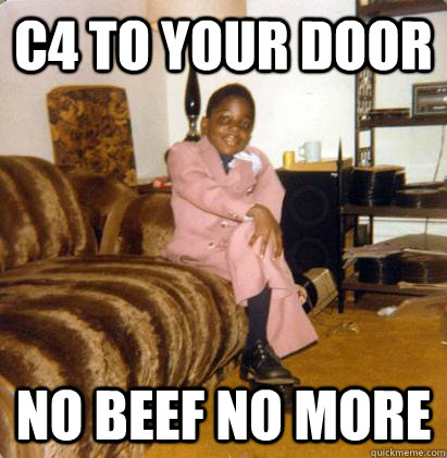 c4 to your door no beef no more - Notoriously Small Biggie Smalls