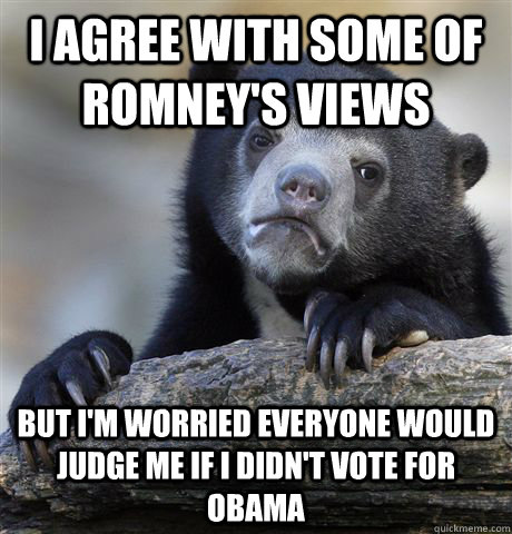 i agree with some of romneys views but im worried everyone - Confession Bear