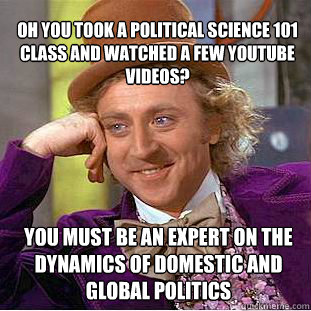 political science 101 Sample syllabi may be accessed using the links beneath the corresponding  course title global 101 – people and politics horowitz pol sci 103 – intro to.