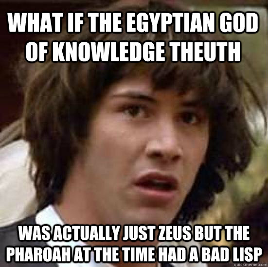 what if the egyptian god of knowledge theuth was actually ju - conspiracy keanu