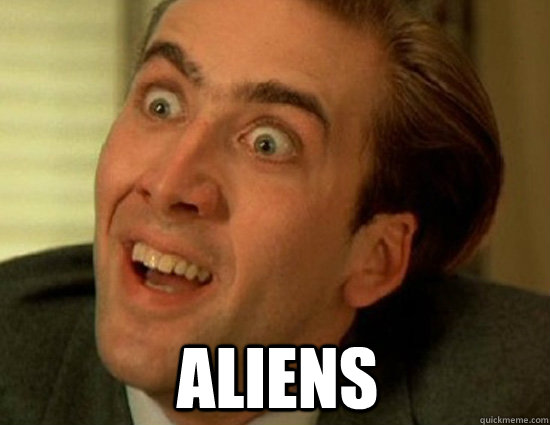 aliens - Nick Cage SWAG