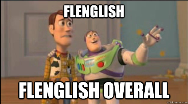 flenglish flenglish overall - buzz and woody
