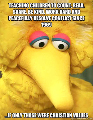 teaching children to count read share be kind work hard  - Big Bird