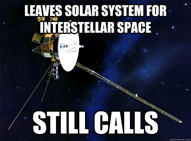 leaves solar system for interstellar space still calls - 