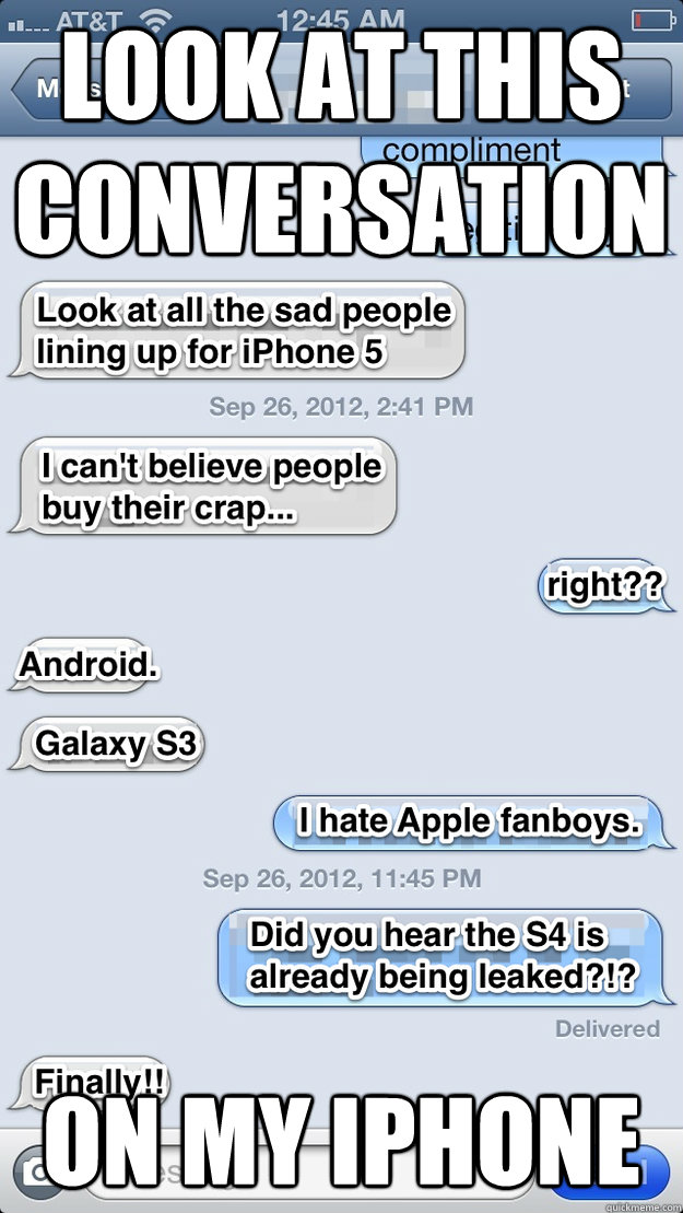 look at this conversation on my iphone - iPhone text